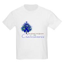 Blue Ribbon Xmas Tree T-Shirt
