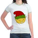 Elf Cat (red hat) 3 Jr. Ringer T-Shirt