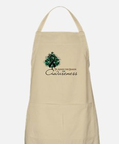 Black Ribbon Xmas Tree Apron