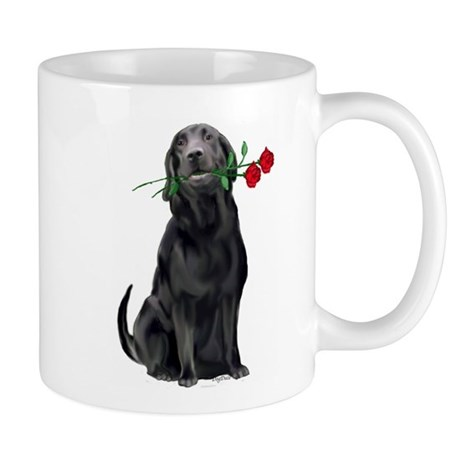 black_lab_with_roses.jpg Mug