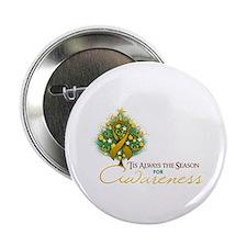 "Amber Ribbon Xmas Tree 2.25"" Button (100 pack)"