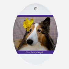 Live Love Laugh Ornament (Oval)