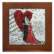 Romantic Ballroom Dancers Framed Tile