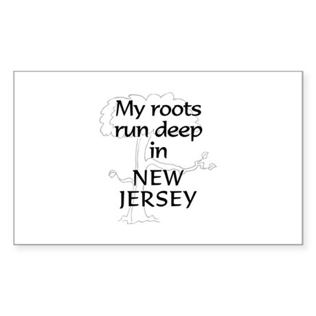 New Jersey Roots Rectangle Sticker