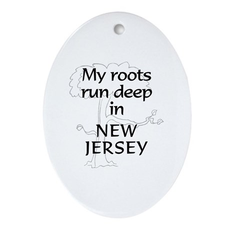 New Jersey Roots Oval Ornament