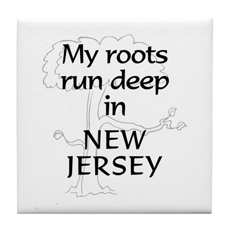 New Jersey Roots Tile Coaster