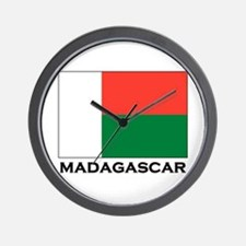 Madagascar Flag Stuff Wall Clock
