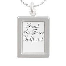 Air force Girlfriend Silver Portrait Necklace