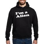 I'm A Alien Womens Hoodie (dark)