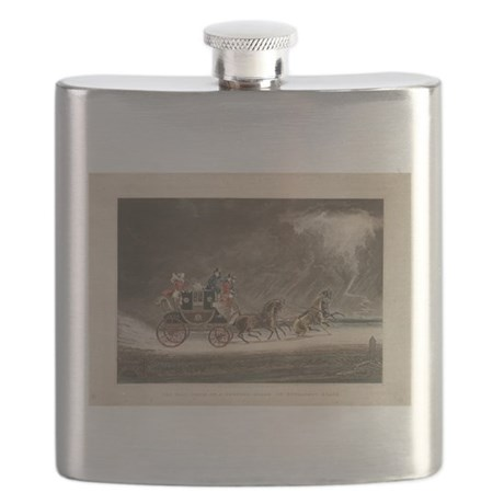 Mailcoach in a Storm Flask