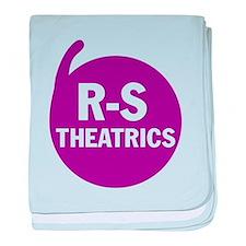 R-S Theatrics Logo Purple baby blanket