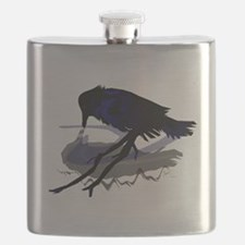 Raven Drinking with Shadow Flask