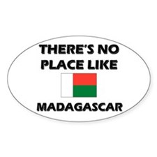 There Is No Place Like Madagascar Oval Decal