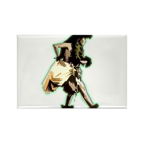 hula dancer Rectangle Magnet