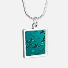Stingrays Silver Square Necklace