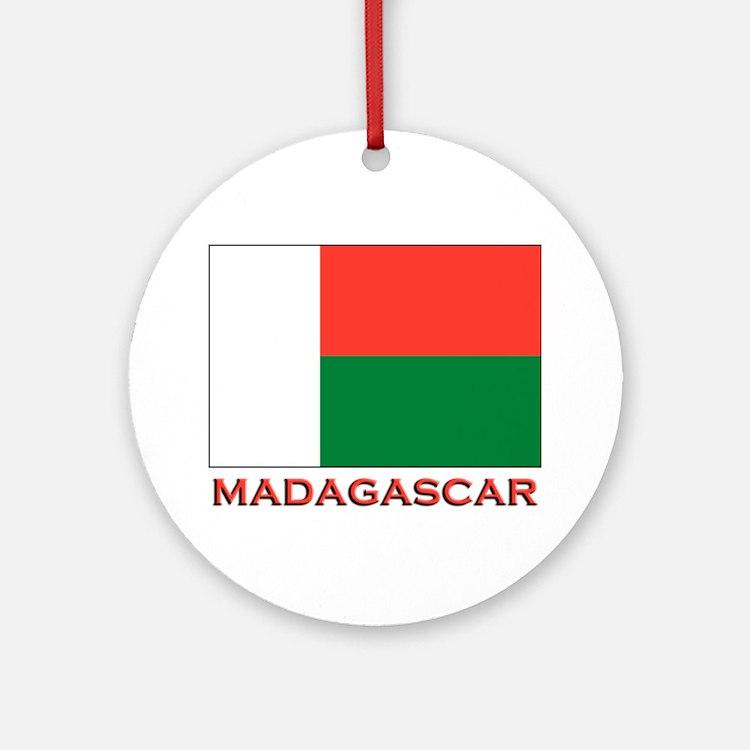 Madagascar Flag Merchandise Ornament (Round)