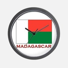 Madagascar Flag Merchandise Wall Clock