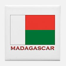 Madagascar Flag Merchandise Tile Coaster