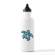 blue hawaiian print turtle Water Bottle