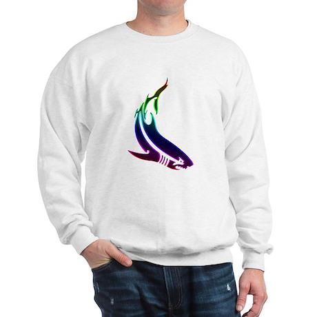 rainbow shark Sweatshirt
