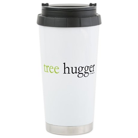 tree-hugger.jpg Stainless Steel Travel Mug