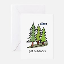 get-outdoors.jpg Greeting Cards (Pk of 10)