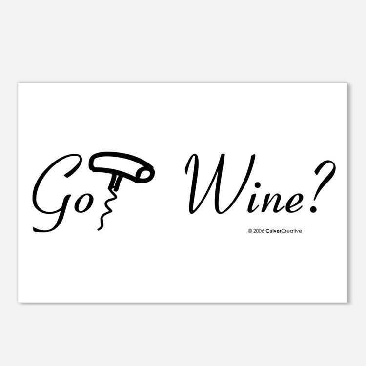 got-wine-white.png Postcards (Package of 8)