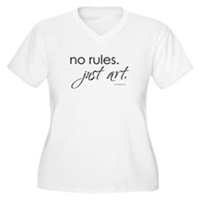 no-rules-just-art-white.png T-Shirt