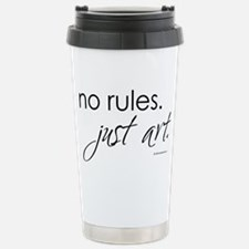no-rules-just-art-white.png Travel Mug