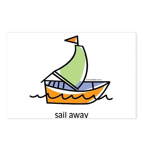 sail-away.jpg Postcards (Package of 8)