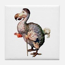 Alice's Dodo Bird in Wonderland Tile Coaster