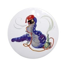 The Hookah-Smoking Caterpillar Ornament (Round)