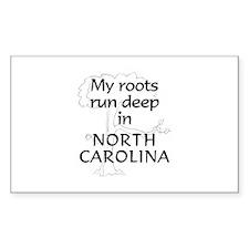 North Carolina Roots Rectangle Decal