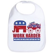 Work Harder Bib