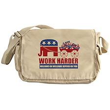 Work Harder Messenger Bag