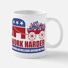 Work Harder Small Small Mug