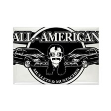 ALL AMERICAN MULLETS MUSTACHES Rectangle Magnet