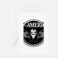 ALL AMERICAN MULLETS MUSTACHES Greeting Cards (Pk