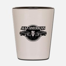 ALL AMERICAN MULLETS MUSTACHES Shot Glass