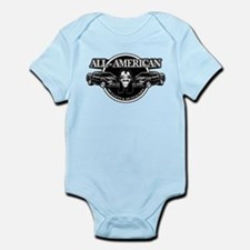 ALL AMERICAN MULLETS MUSTACHES Infant Bodysuit