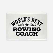 World's Best Rowing Coach Rectangle Magnet