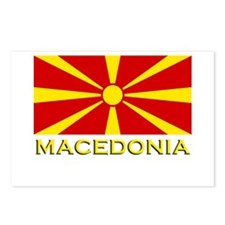 Macedonia Flag Merchandise Postcards (Package of 8