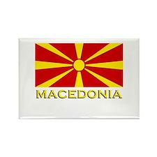 Macedonia Flag Merchandise Rectangle Magnet