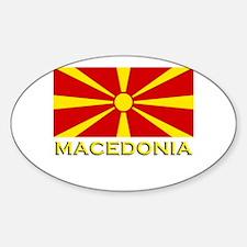 Macedonia Flag Merchandise Oval Decal