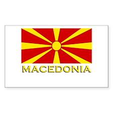 Macedonia Flag Merchandise Rectangle Decal