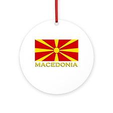 Macedonia Flag Merchandise Ornament (Round)