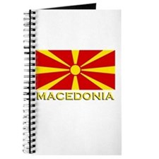 Macedonia Flag Merchandise Journal