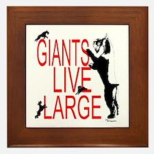 giant stands Framed Tile