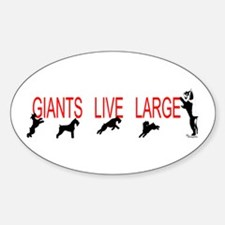 giant stands Oval Decal