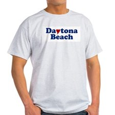 Daytona Beach with Heart T-Shirt